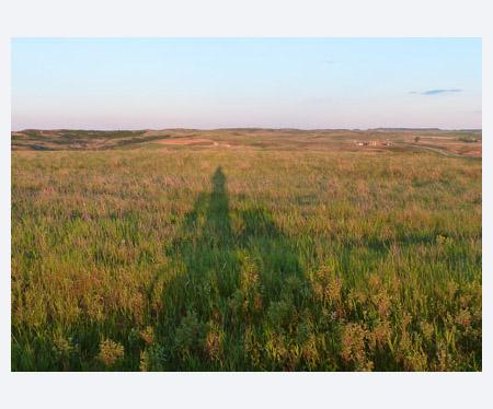 Dawn on North Dakota prairie