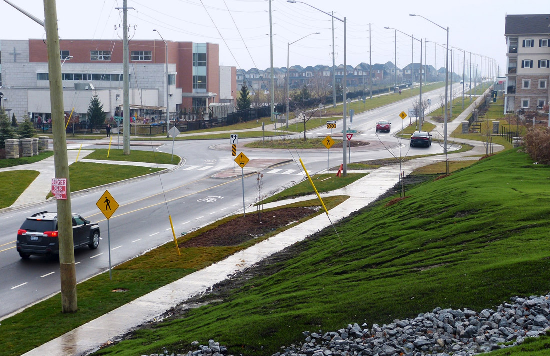 Green Road, looking south from new CP Rail overpass