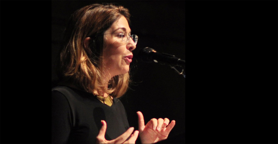 Naomi Klein, photograph by Joe Mabel, distributed via Wikimedia Commons