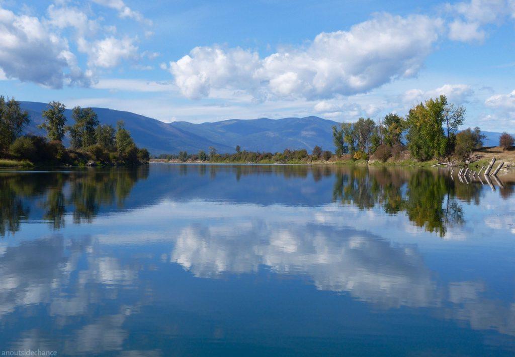 Kootenai River north of Bonners Ferry, Idaho
